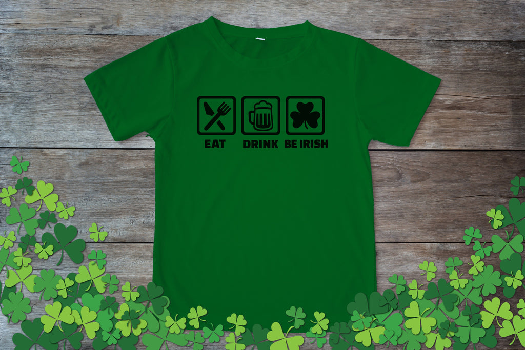Graphic TEE St. Patrick's Day Eat Drink Be Irish - Potter's Printing