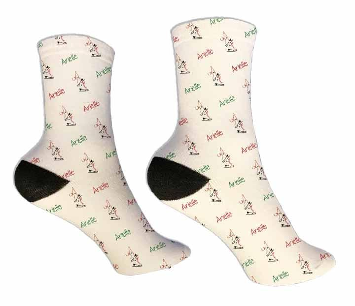 Figure Skating Personalized Socks - Potter's Printing
