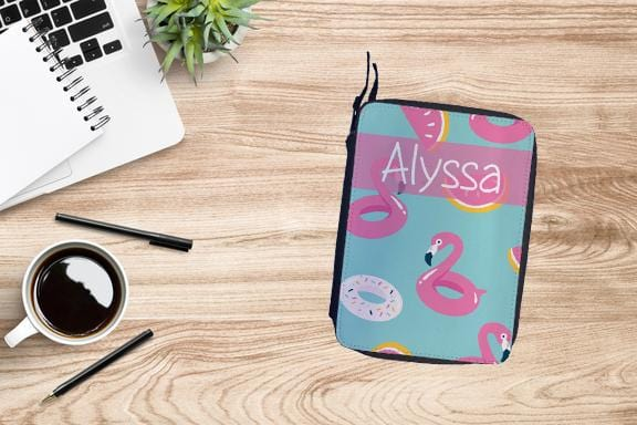Personalized Flamingo Drawing Set