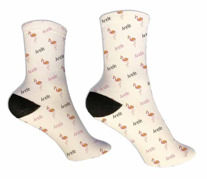 Flamingo Personalized Socks - Potter's Printing