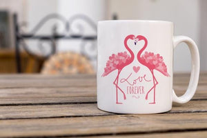 Valentine Flamingo Coffee Mug - Potter's Printing