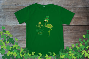 Graphic TEE St. Patrick's Day Flocking Irish - Potter's Printing