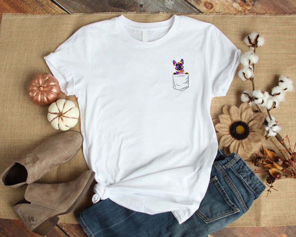 Graphic TEE Frenchie Pocket