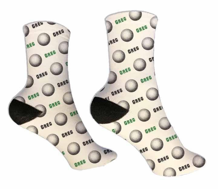 Golf Personalized Socks - Potter's Printing