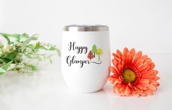 Happy Glamper Wine Tumbler