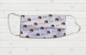 Hedgehog Personalized Face Mask - Potter's Printing