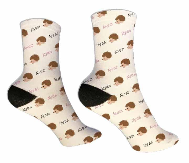 Hedgehog Personalized Socks - Potter's Printing