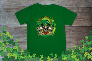 Graphic TEE St. Patrick's Day Skulls - Potter's Printing