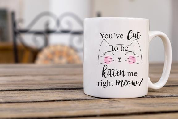 You've Cat to Be Kitten Me Right Meow Coffee Mug - Potter's Printing