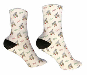 Koala Christmas Personalized Socks - Potter's Printing
