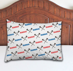 Lacrosse Personalized Pillowcase - Potter's Printing