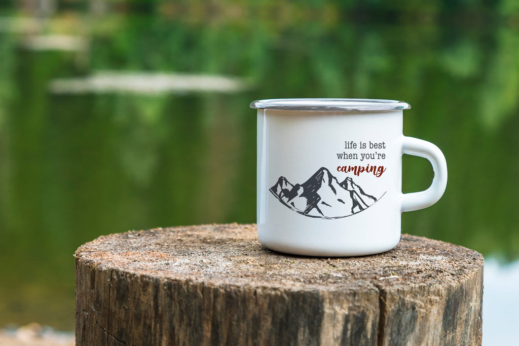 Life is Best Camping Mug
