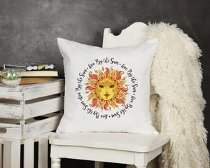 Live By The Sun Throw Pillow - Potter's Printing
