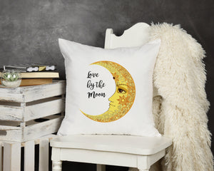 Love By The Moon Throw Pillow - Potter's Printing