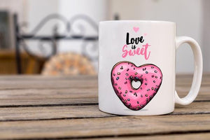 Donut Love Coffee Mug - Potter's Printing