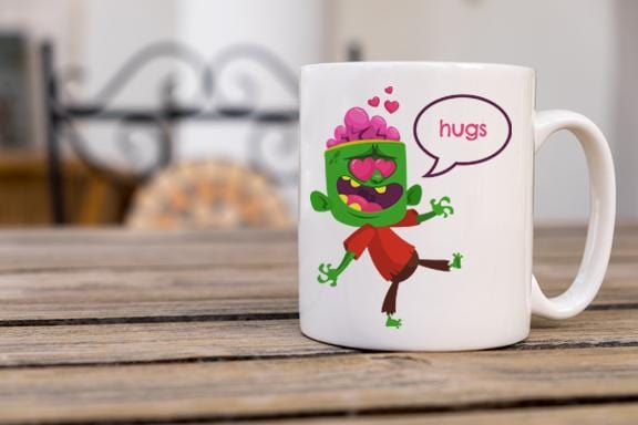 Zombie Love Coffee Mug - Potter's Printing
