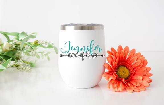 Maid of Honor Personalized Wine Tumbler