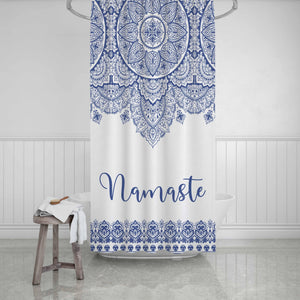 Mandala Personalized Shower Curtain - Potter's Printing
