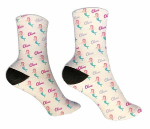 Mermaid Personalized Socks - Potter's Printing