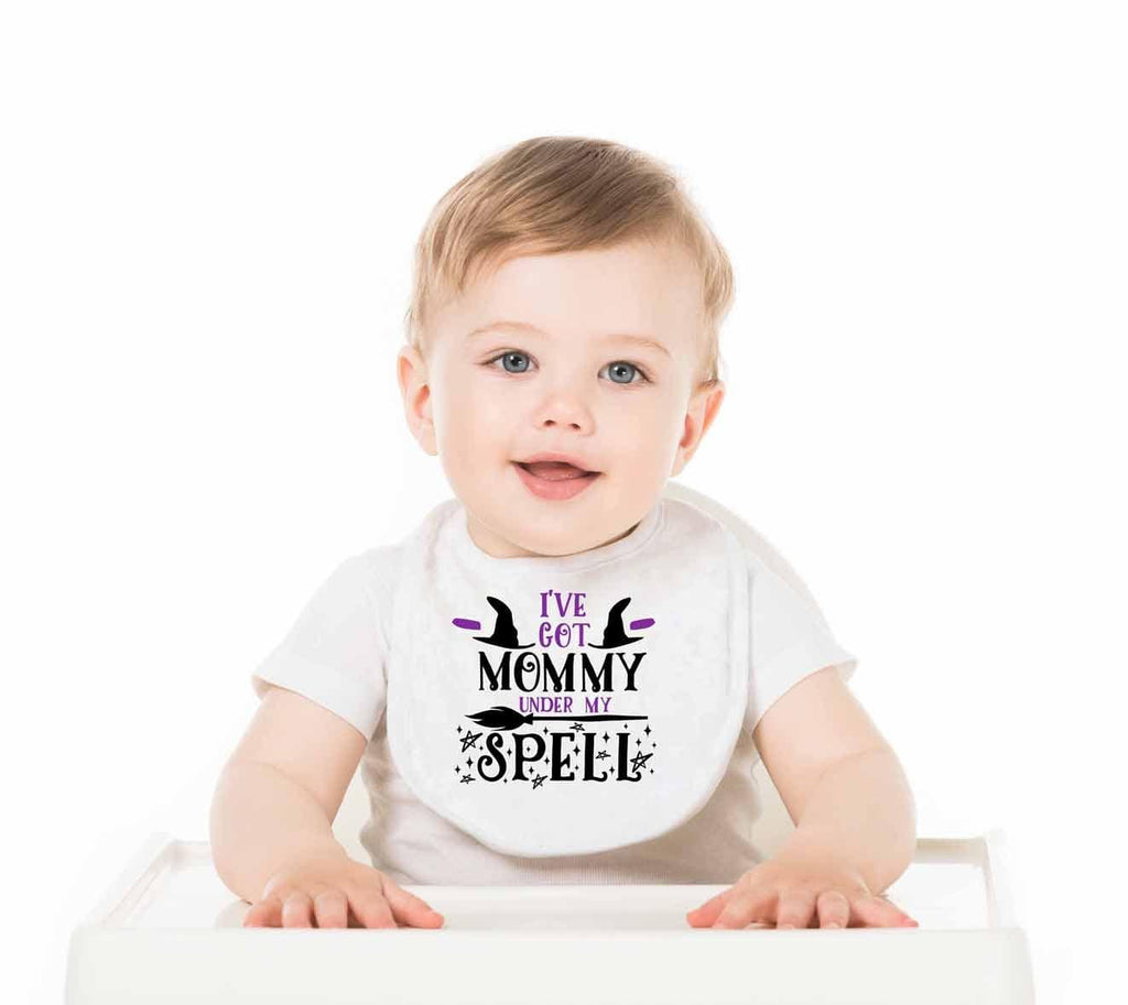 I've Got Mommy Under My Spell Baby Bib - Potter's Printing