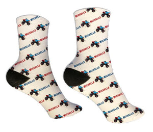 Monster Truck Personalized Socks - Potter's Printing