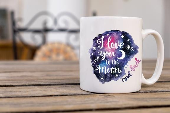 Love You to the Moon And Back Coffee Mug - Potter's Printing