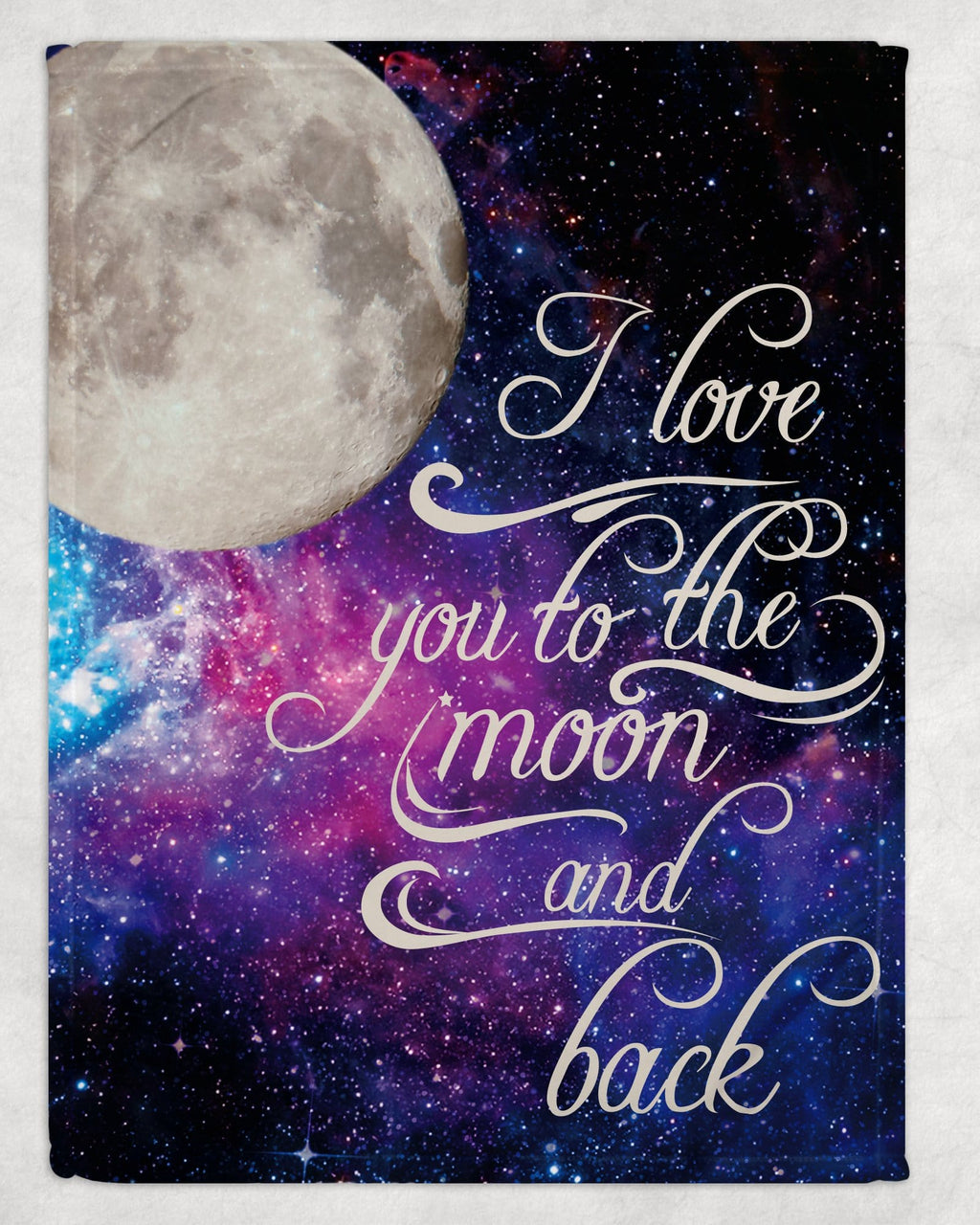 Love you To the Moon and Back Blanket - Potter's Printing