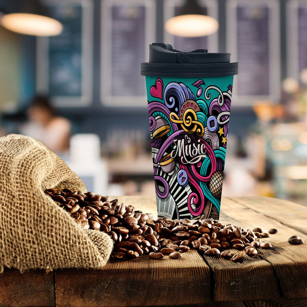 Music Coffee Tumbler - Potter's Printing