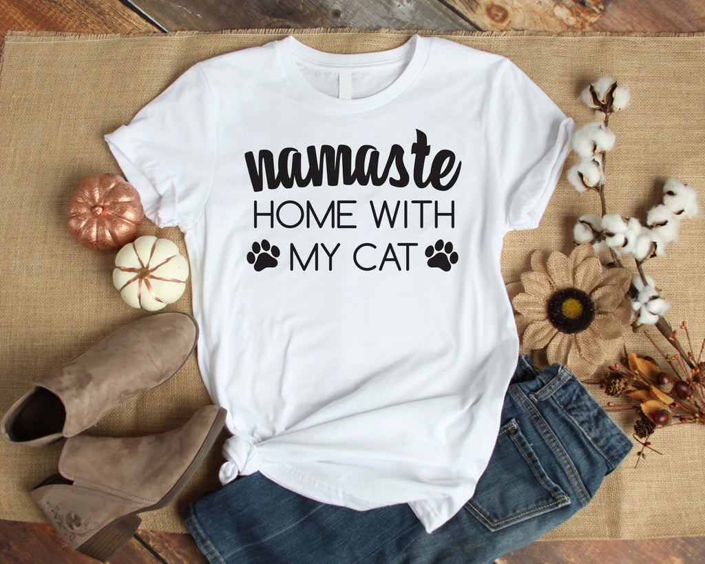 Graphic TEE Namaste Home With My Cat