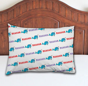 Narwhal Personalized Pillowcase - Potter's Printing