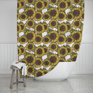 Sunflower Shower Curtain - Potter's Printing