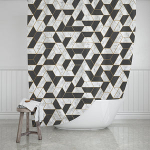 Marble Shower Curtain - Potter's Printing