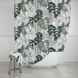 Greenery Shower Curtain - Potter's Printing