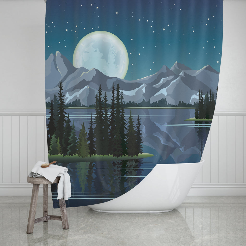 Scenic Shower Curtain - Potter's Printing