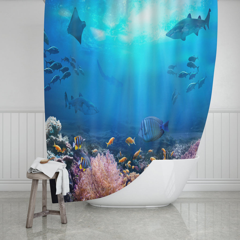 Ocean Shower Curtain - Potter's Printing