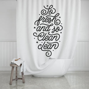 So Fresh So Clean Shower Curtain - Potter's Printing