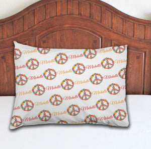 Peace Personalized Pillowcase - Potter's Printing