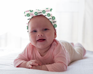 Donuts Personalized Baby Headband - Potter's Printing