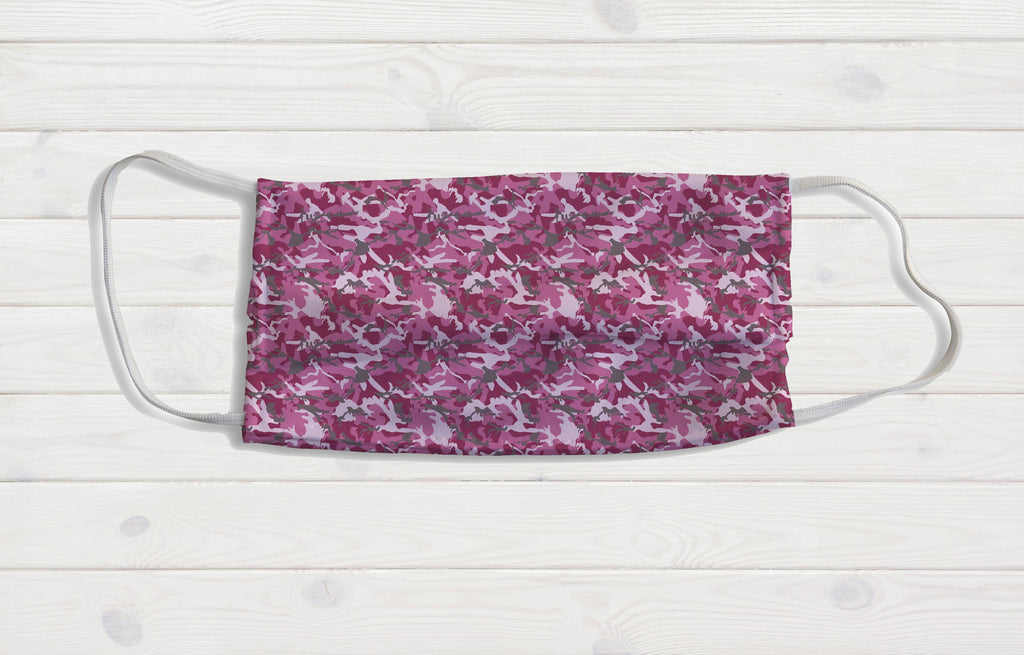 Pink Camo Face Mask - Potter's Printing