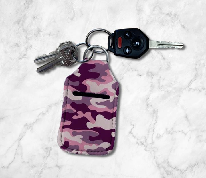 Pink Camo Hand Sanitizer Holder