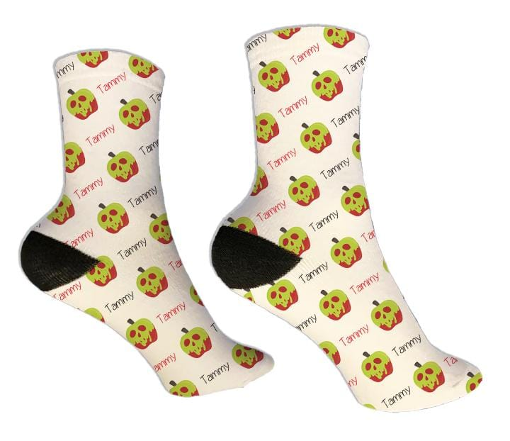 Poison Apple Personalized Halloween Socks - Potter's Printing
