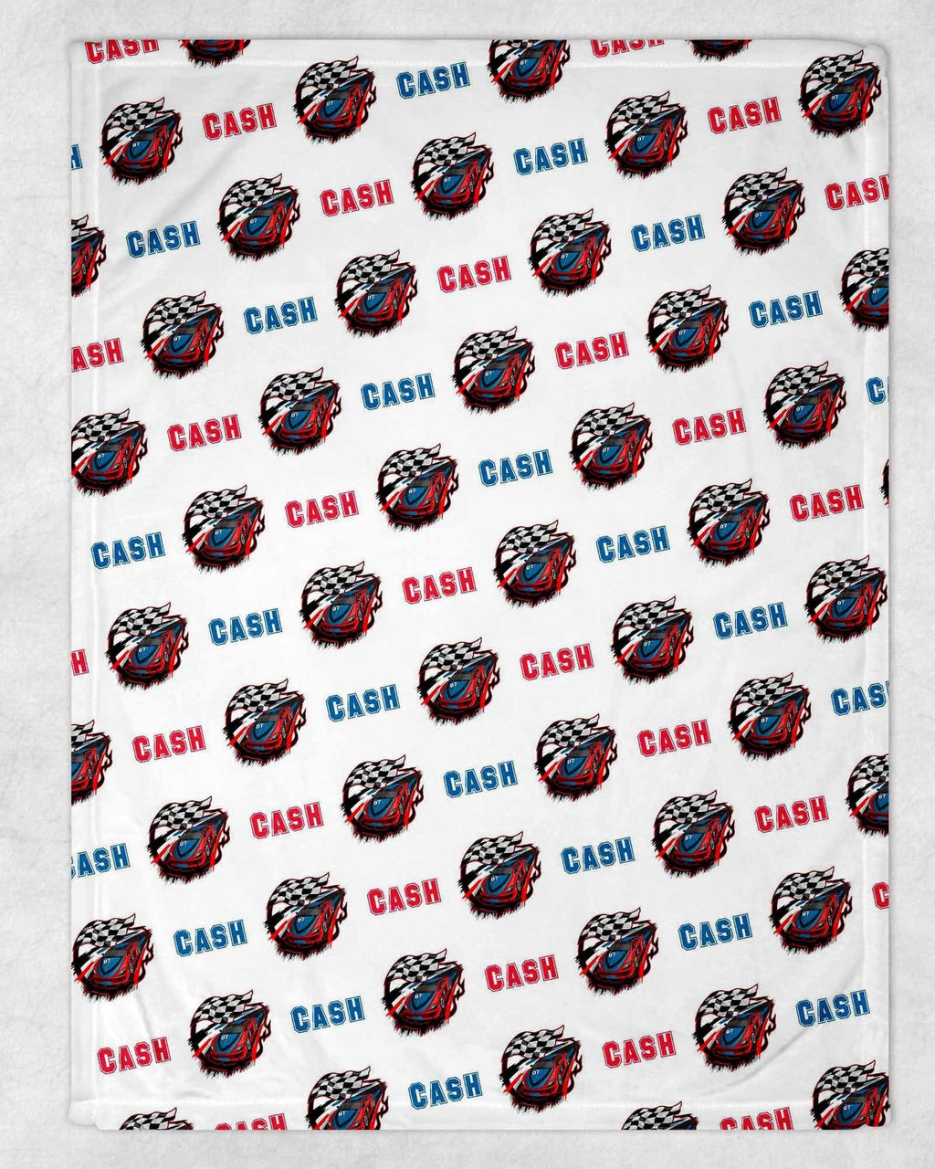 Racecar Personalized Blanket