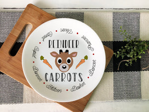 Reindeer Carrots Ceramic Plate - Potter's Printing