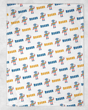 Robot Personalized Blanket - Potter's Printing