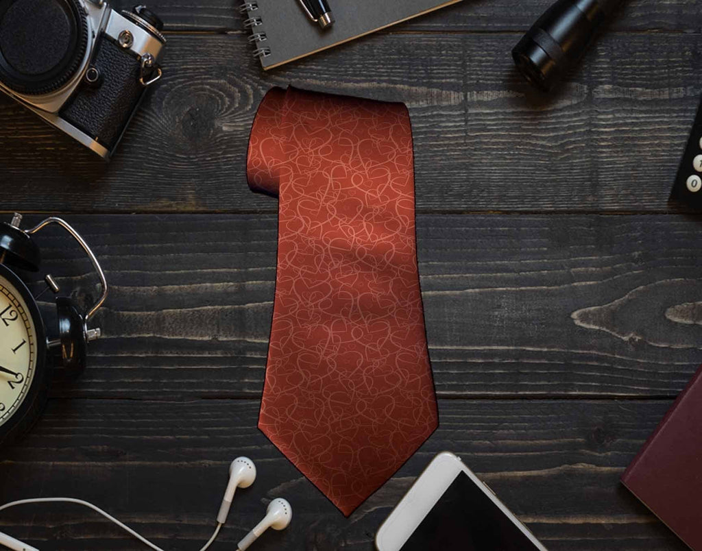 Hearts Neck Tie - Potter's Printing