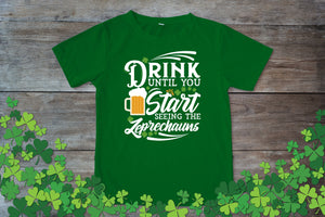 Graphic TEE St. Patrick's Day Seeing Leprechauns - Potter's Printing