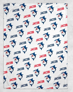 Shark Personalized Blanket - Potter's Printing