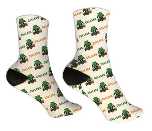 Skulls and Beer Personalized St. Patrick's Day Socks - Potter's Printing