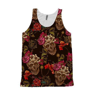 Skulls and Roses Tank Top - Potter's Printing