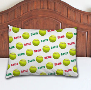 Softball Personalized Pillowcase - Potter's Printing